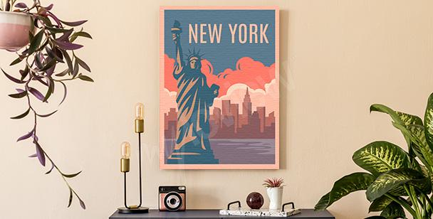Cuadro colorido Nueva York