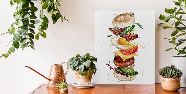 Cuadro comidas y hamburguesa