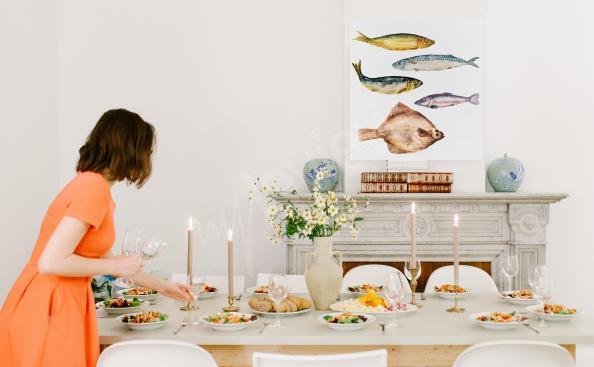 Cuadro comidas y pescado