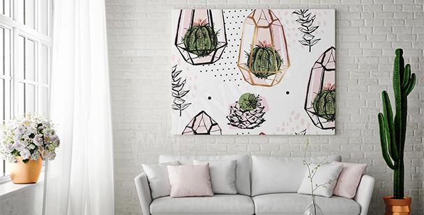 Cuadro composición con cactus