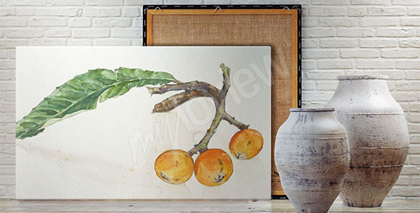 Cuadro con fruto de serbal
