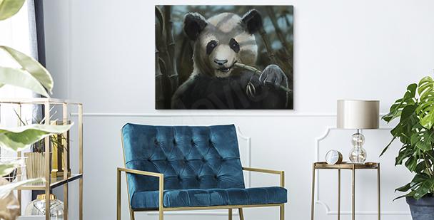 Cuadro con imagen de un panda