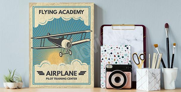 Cuadro con la imagen de un avión