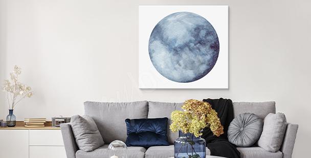 Cuadro con la luna
