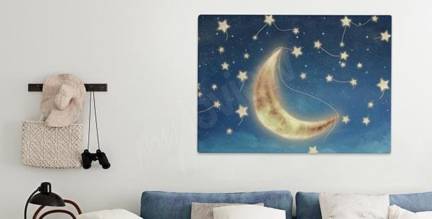Cuadro con la luna luminosa