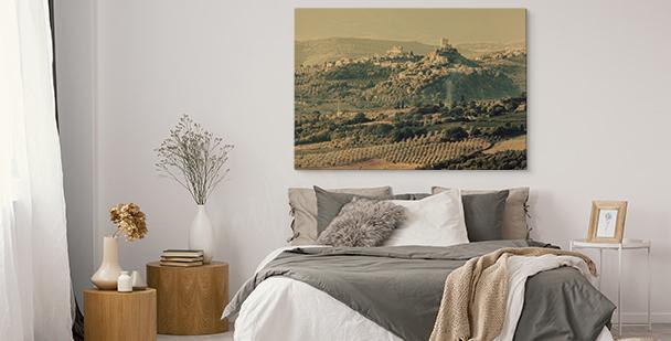 Cuadro con paisaje italiano