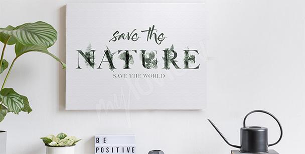Cuadro con tema de la naturaleza