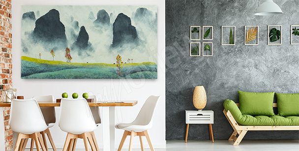 Cuadro con un paisaje de China