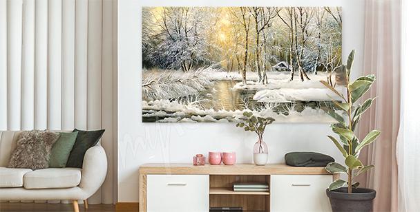 Cuadro con un paisaje de invierno