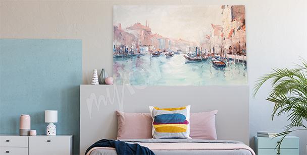 Cuadro con un paisaje de Venecia