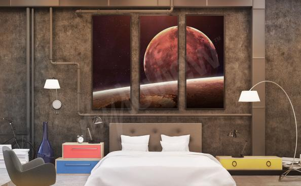 Cuadro cosmos para el dormitorio