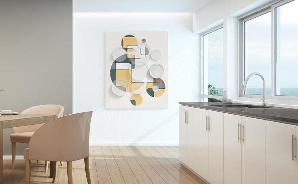 Cuadro de cocina abstraccion