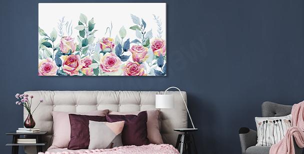 Cuadro de pared con rosas