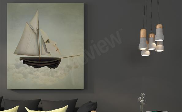 Cuadro de surrealismo nave