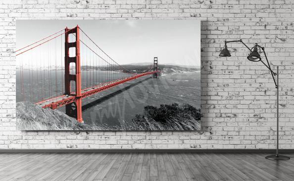 Cuadro de un puente rojo