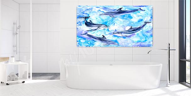 Cuadro delfín para el baño