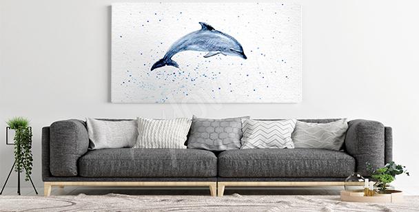 Cuadro delfín para la sala de estar