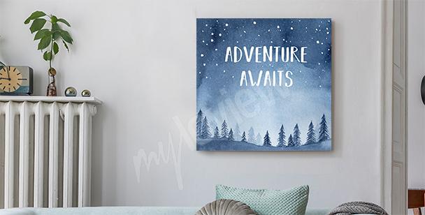 Cuadro deseo de aventura