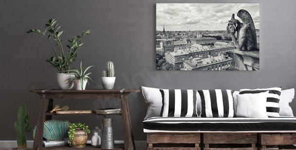 Cuadro en blanco y negro París