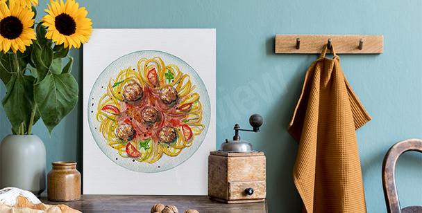 Cuadro espagueti