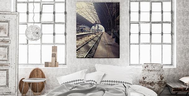 Cuadro estación ferroviaria de Praga