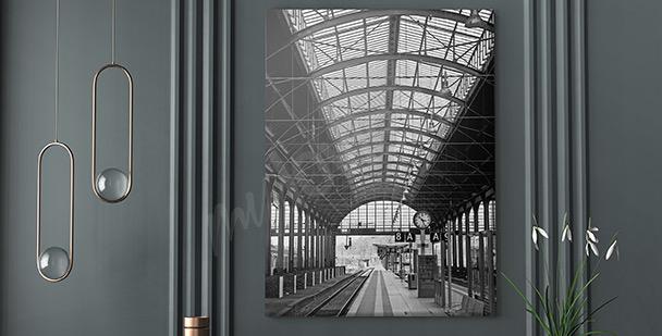 Cuadro estación moderna
