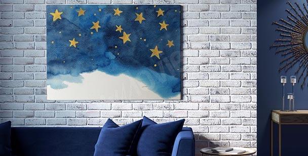 Cuadro estrellas en el cielo
