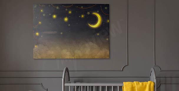 Cuadro estrellas en un cielo nocturno