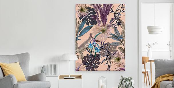 Cuadro exótico en estilo floral