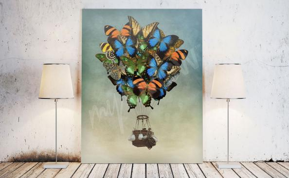 Cuadro fantasy mariposas coloridas