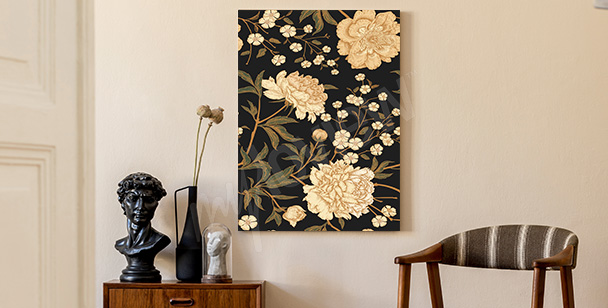 Cuadro floral retro