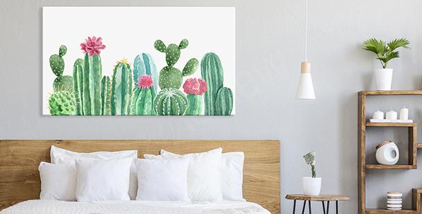 Cuadro floral style en tonos pastel