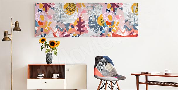 Cuadro flores abstractas