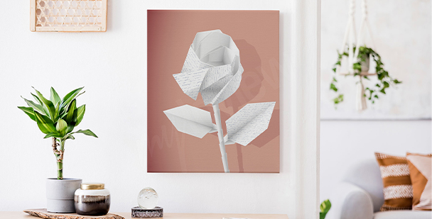 Cuadro flores de papel