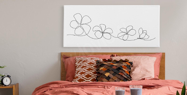 Cuadro flores line art