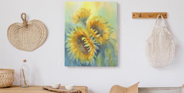 Cuadro flores soleadas