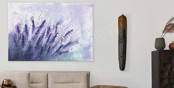 Cuadro flores violetas