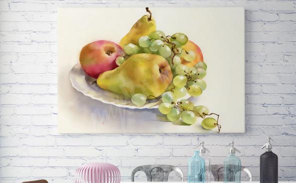 Cuadro fruta en un plato