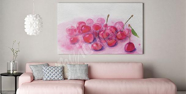Cuadro frutas de cerezas