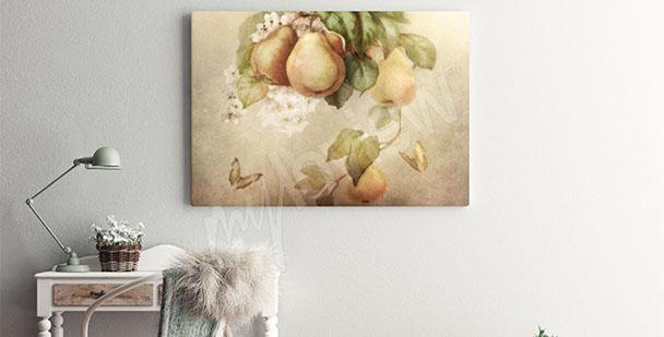 Cuadro frutas de peras