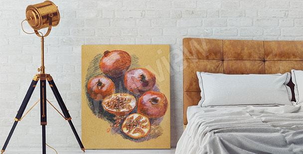 Cuadro frutas para el dormitorio