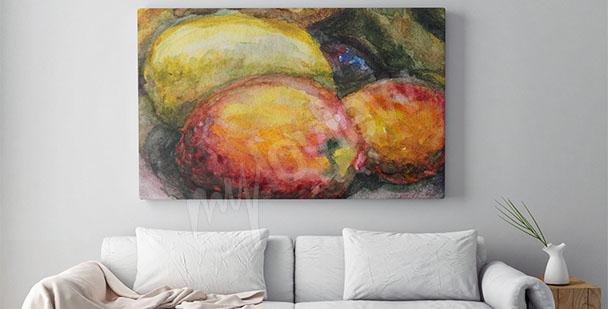 Cuadro frutas para la sala de estar