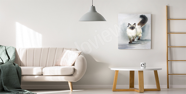 Cuadro gato para la sala de estar