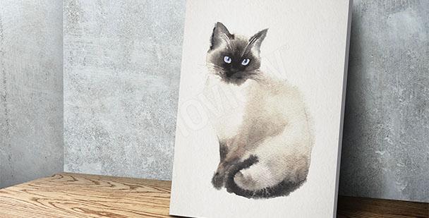 Cuadro gato pintura