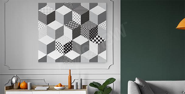 Cuadro geométrico 3D