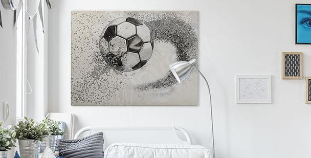 Cuadro gráfico con una pelota