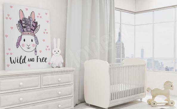Cuadro infantil con un conejito