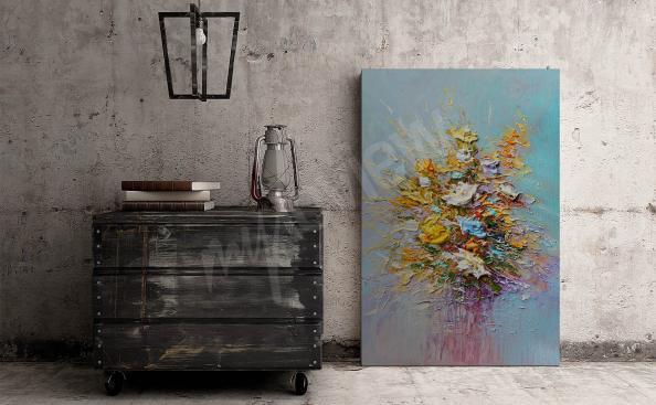 Cuadro inspirada en la pintura al óleo