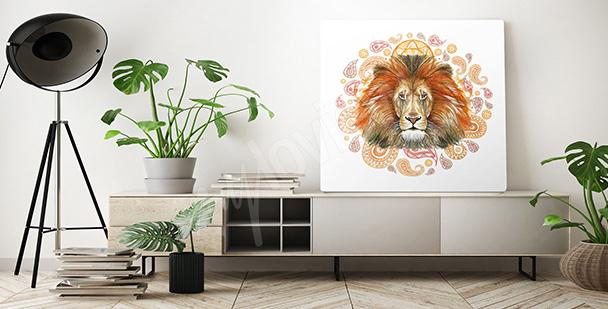Cuadro león africano