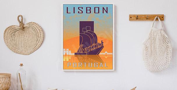 Cuadro Lisboa en estilo vintage